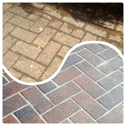 Before & After Block Paving Clean by Thor Cleaning Services