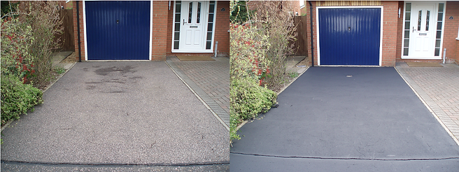 Before and after tarmac