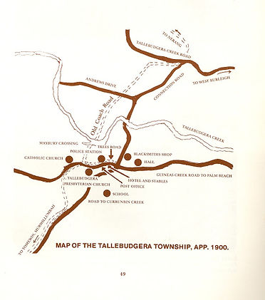 Map of Tallebudgera app. 1900