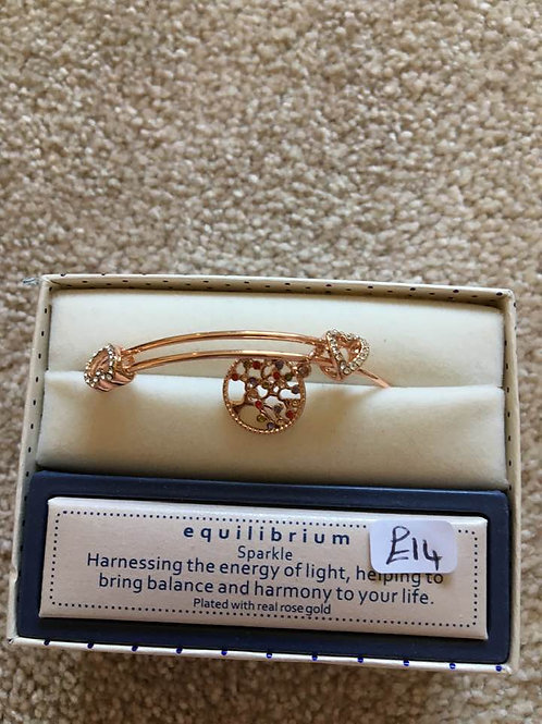 Rose Gold Plated Tree of Life Bangle