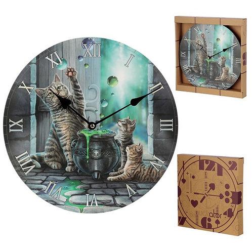 Tabby Cat Clock