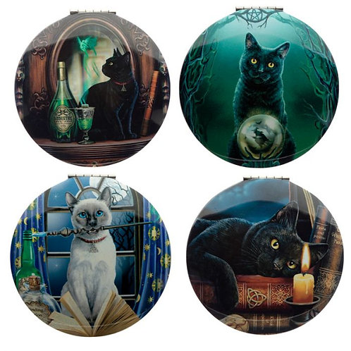 Set of 4 Cat Compacts