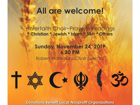 Shasta Interfaith Thanksgiving Service