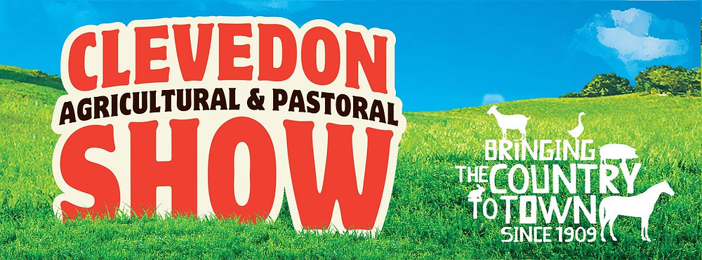 A banner for the Clevedon Agricultural and Pastoral Show