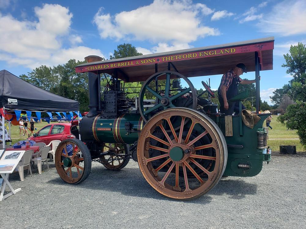 Northland New Zealand, tourist attraction, farm machine, traction engine