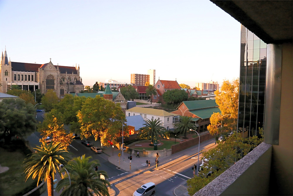 Down Town Perth from The Travel Lodge balcony