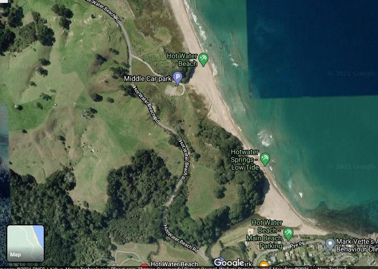Where to dig at hot water beach