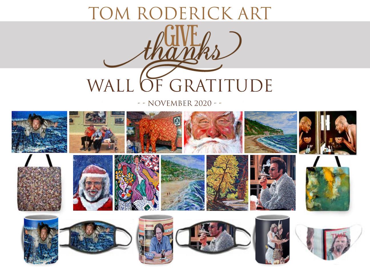 November 2020 Wall of Gratitude Tom Roderick Art