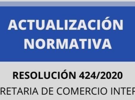 Actualización Normativa - Res.424/2020 Secretaría de Comercio Interior