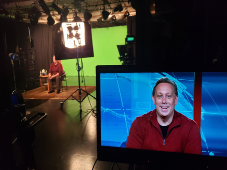 Testing new CNN Graphics for live hits with Elie Honig at Rutgers iTV studio.