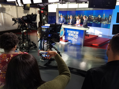 Bennett's students visit ABC Channel 7 News in NYC