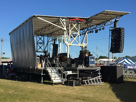 Mobile stage rental in Madison, WI.