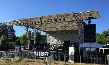 Mobile stage rental in Wheaton, Illinois.