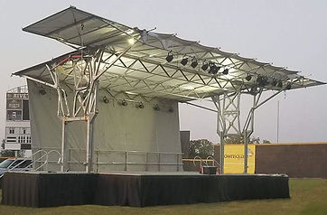32' X 24' mobile stage rental in Rockford, Illinois