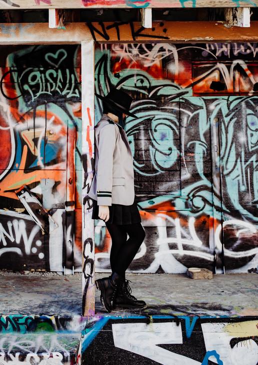 HIGH SCHOOL SENIOR PHOTOGRAPHY LAS VEGAS NEVADA DOWNTOWN FREEMONT STREET ARTS DISTRICT