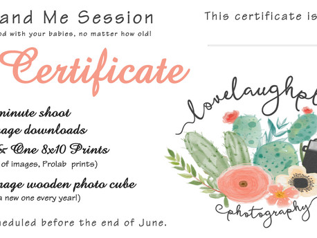 Mother's Day Gift Certificates & Giveaway!