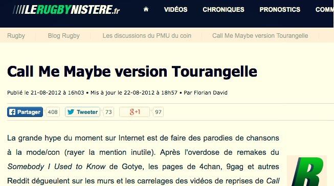 2012 | LeRugbynistère.fr