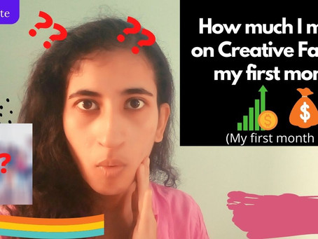 How much I make on CREATIVE FABRICA my first month/Creative Fabrica first month income report