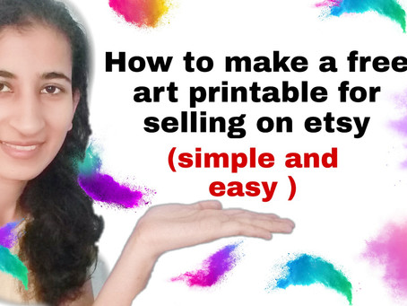 Making an art printable in less than 15 minutes