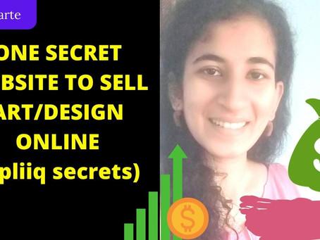 ONE SECRET WEBSITE TO SELL ART/DESIGNS ONLINE