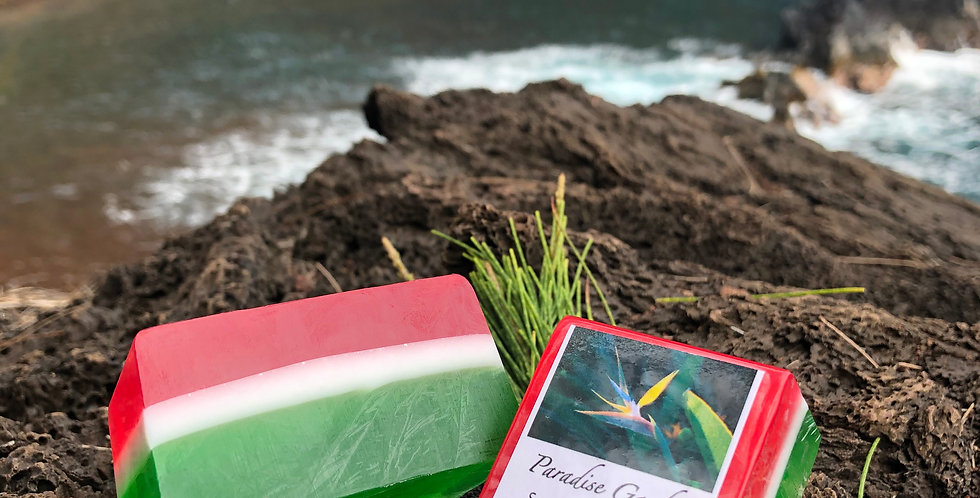 Maui Christmas Soap, Red White & Green, Smells like a Crushed Candy Cane!