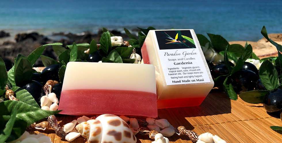 Gardenia Glycerin Bar Soap.  White & Pink in Color.  Smells like a Captivating Spicy White Floral Scent