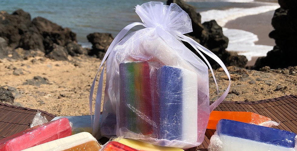 Bar Soap Ends, 10 Pack Variety Mix of Fresh, Fruity, and Floral, All Colors of the Rainbow