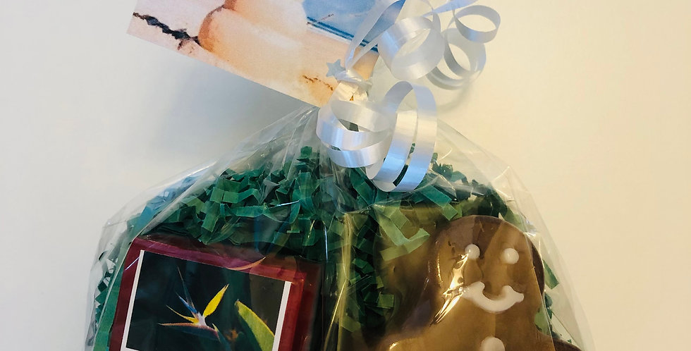 Maui Christmas Gift Bag with Gingerbread Man Soap