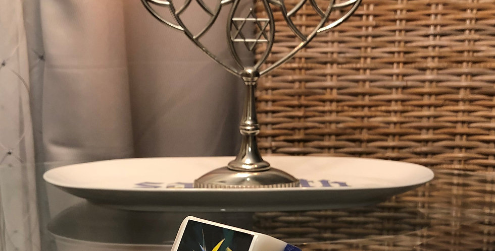 Happy Hanukkah Glycerin Bar Soap - Blue and White - Smells Like Sugar Cookie