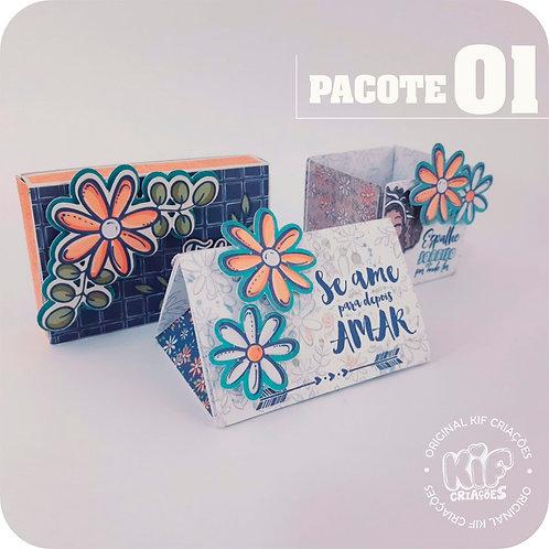 Caixas Cartões - Pacote 1