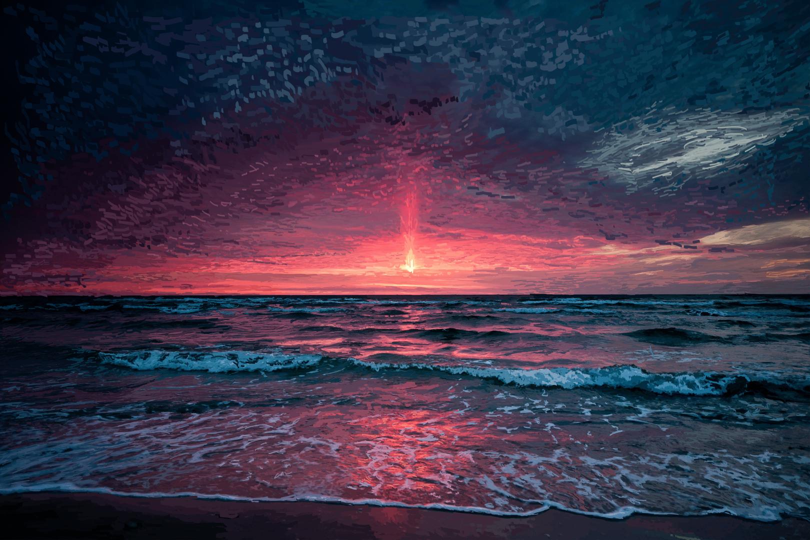 Beach Sunset.
