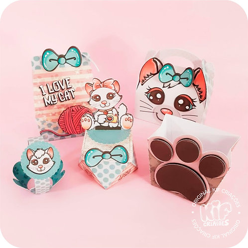 Kit Caixas Básica - Love My Cat