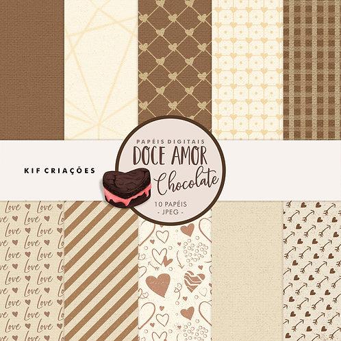 Papéis Doce Amor - Chocolate