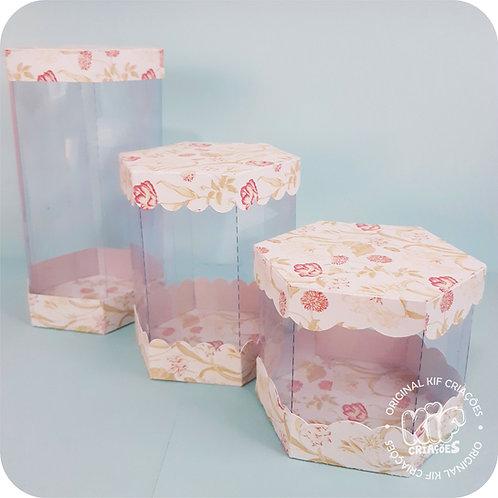 Caixa Hexagonal - Coleção Cristal
