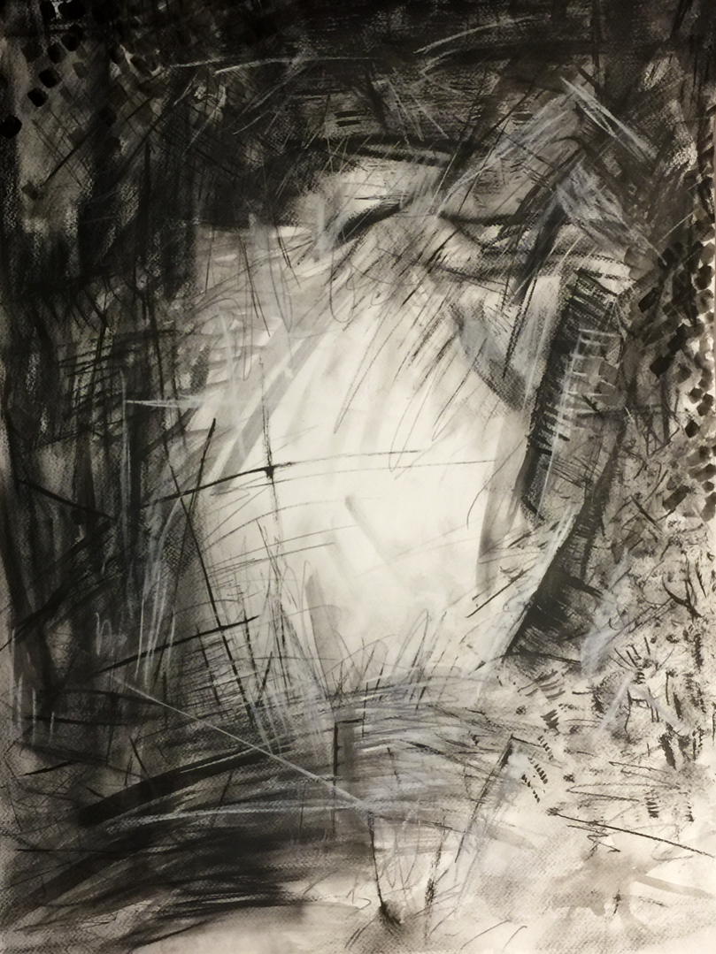 Abstract Charcoal Piece.