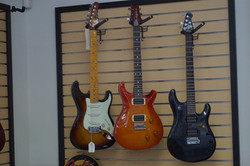 Pawn inc close up of guitars
