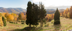Jesenný výhľad z balkóna