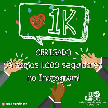 1000 seguidores instagram eu candidato.p