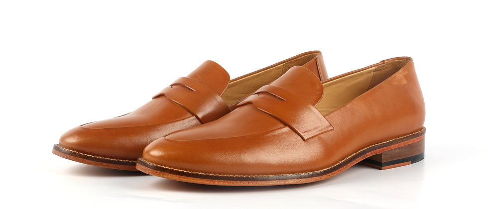 Milagro Tan Blind Stitch Loafer   Loafer