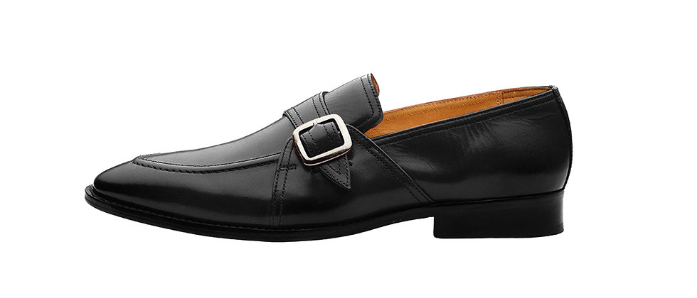 Marques Black Single Strap Loafer