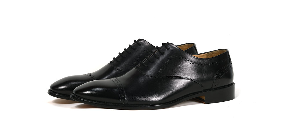 Monte Classic Black Oxford  Shoes