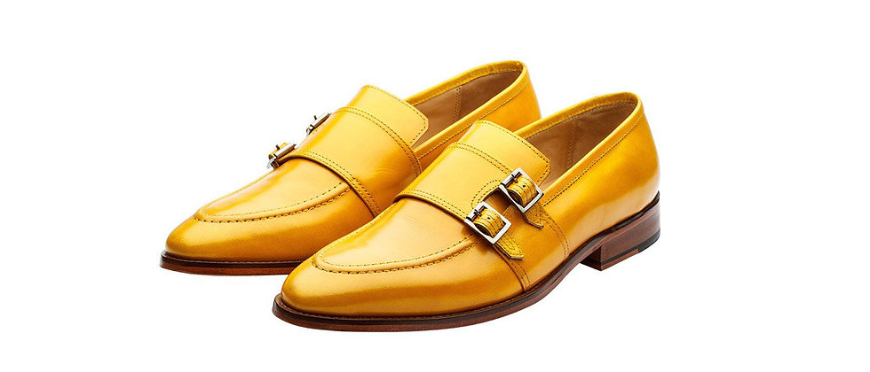 Lobo Lemon Yellow Strap Loafer