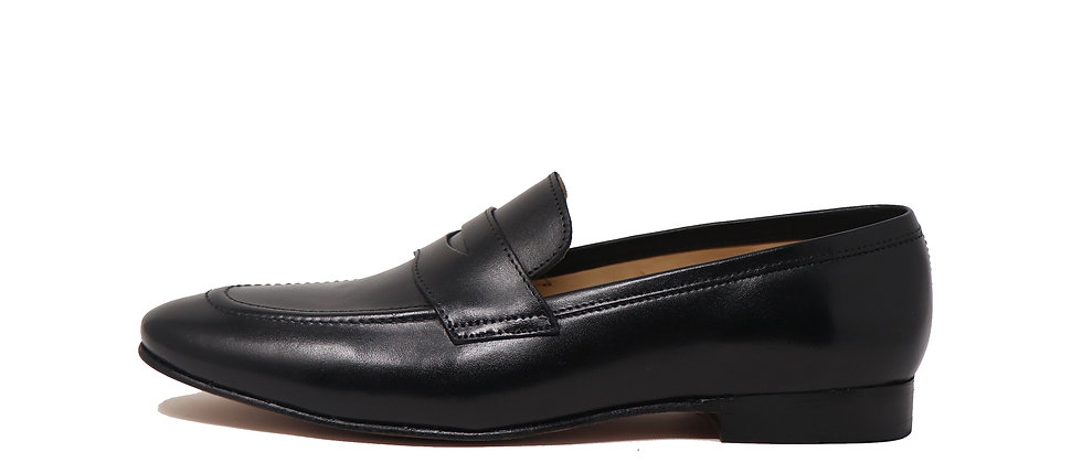 Carlos Low Heel Black Loafer