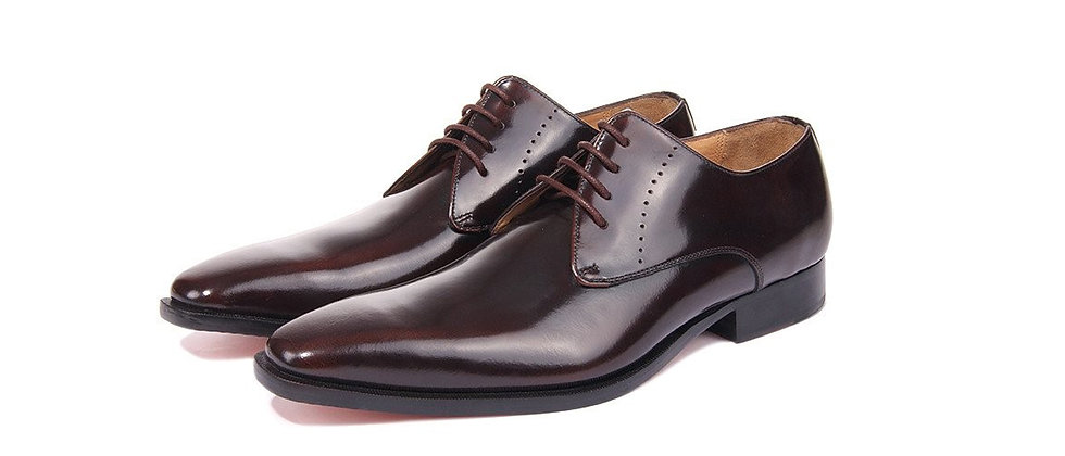 Eloy Burgundy Derby Shoes