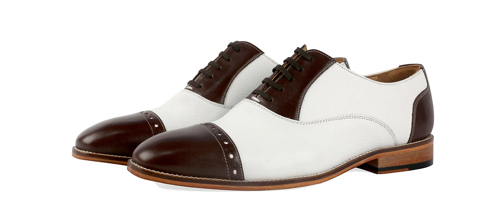 Tuxe Brown White Combination Oxford