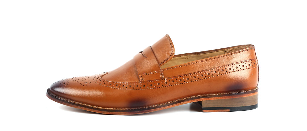 Country Classic leather Tan Loafer