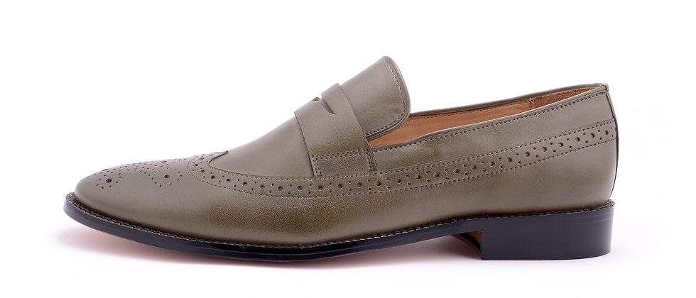 Country Classic leather Olive Loafer