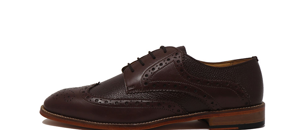 Adelmo Brown Comb Derby Shoes