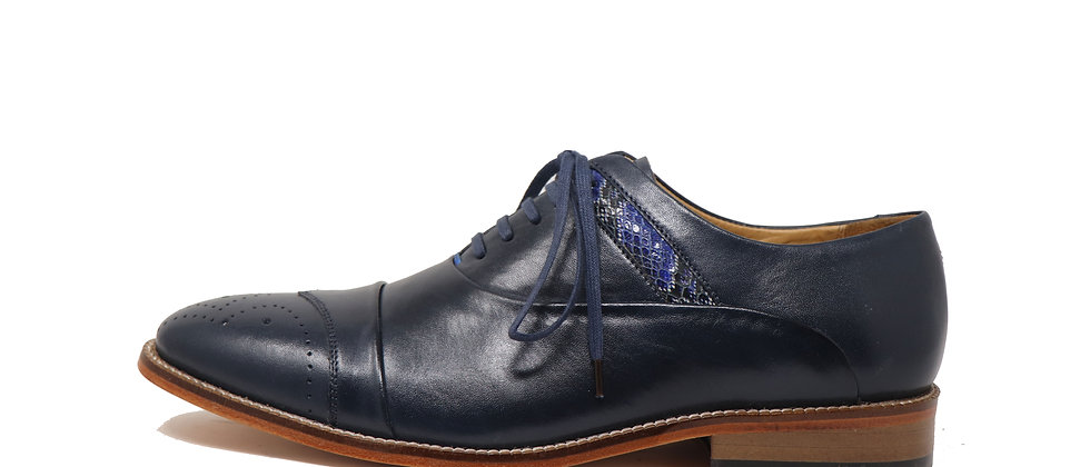 Benito Blue Oxford Shoes