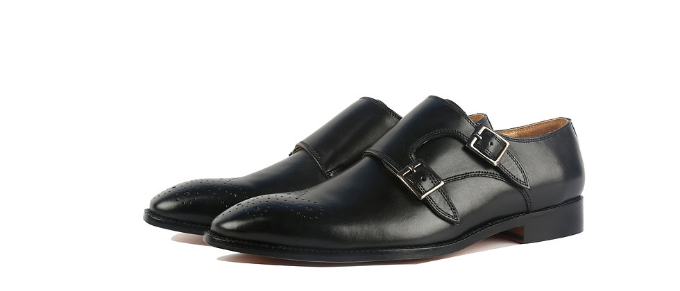 Harvey Black Double Monk Strap